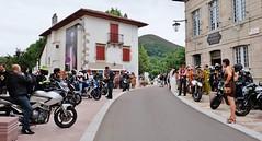 Mariage de motards a Ascain, Pays basque