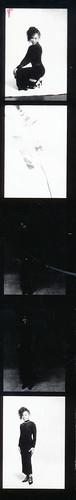 IMG_0074 Lace Black Dress Photo Shoot Arch Street Studio Philadelphia Kodak TMY 35 mm B&W Contact Sheet Proof Print Aug 1994