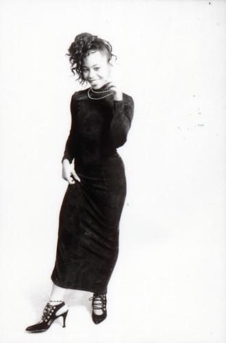 IMG_0081 Lace Black Dress Photo Shoot Arch Street Studio Philadelphia Kodak TMY 35 mm B&W Contact Sheet Proof Print Aug 1994