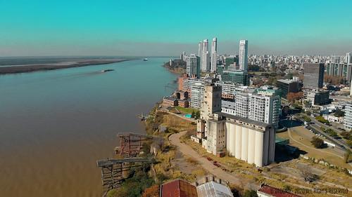 Puerto Norte, Rosario, Argentina un dia de Otoño a -8°C