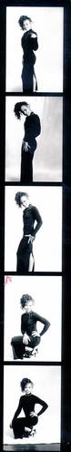 IMG_0073 Lace Black Dress Photo Shoot Arch Street Studio Philadelphia Kodak TMY 35 mm B&W Contact Sheet Proof Print Aug 1994