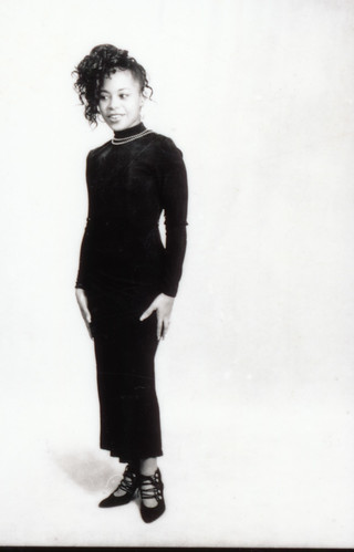IMG_0086 Lace Black Dress Photo Shoot Arch Street Studio Philadelphia Kodak TMY 35 mm B&W Contact Sheet Proof Print Aug 1994