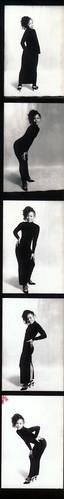 IMG_0072 Lace Black Dress Photo Shoot Arch Street Studio Philadelphia Kodak TMY 35 mm B&W Contact Sheet Proof Print Aug 1994