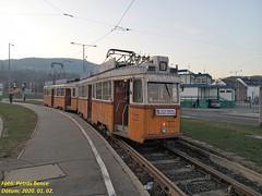 Ganz UV 3873 + 3885 a Fényvillamossal Budapest, Bécsi út/Vörösvári út, 2020. 01. 02.