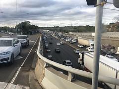 Traffic on Monash Freeway at High Street, Glen Iris