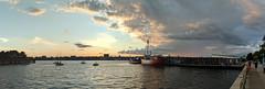 Hudson River Sunset Panorama