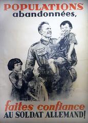 Affiche de propagande allemande (musée Libération, Leclerc, Moulin, Paris)