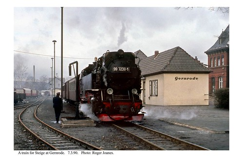 Gernrode. Train for Steige. 7.3.90