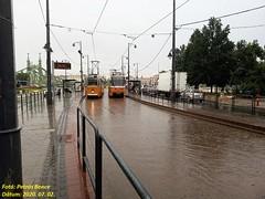 Ganz CsMG (ICS) 1450 + Tatra T5C5K2 4221 Budapest, Szent Gellért tér, 2020. 07. 02.