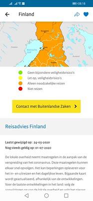 Finland nog steeds oranje