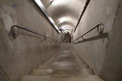 L'escalier menant au poste de commandement des FFI (musée Libération, Leclerc, Moulin, Paris)