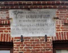 Camphin-en-Pévèle Mairie plaque en hommage à Adrien Dubrunfaut - Photo of Lys-lez-Lannoy