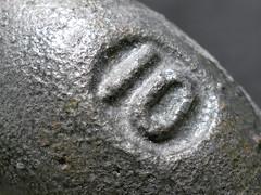 Ten-pound iron barbell