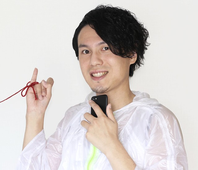 Photo:赤い糸と男性 By duvsbefilmoc