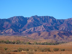 Flinders Ranges in South Australia. The western side of Wilpena Pound from near the Moralana Station scenic lookout.