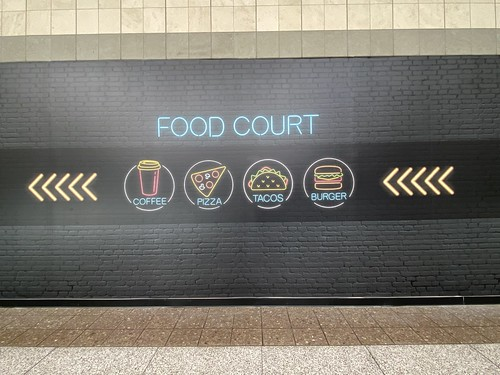food court. southlake mall sign 2020 july