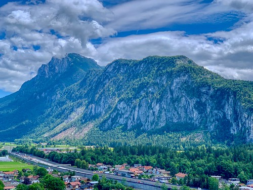 Zahmer Kaiser mountain range seen from Thierberg in Tyrol, Austria