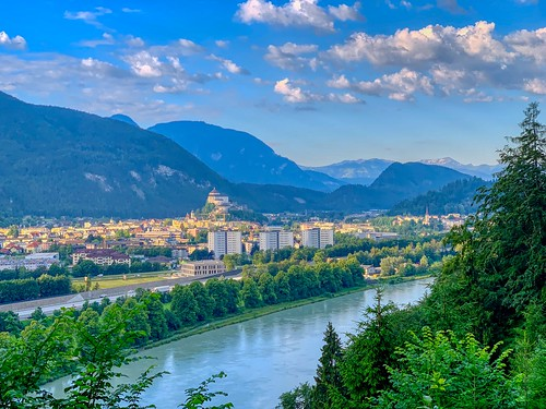 Kufstein with Fortress seen from Thierberg in Tyrol, Austria