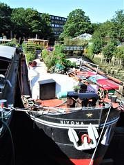 The Boat Nivoma In Brentford Dock - London.