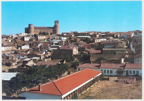 Castillo de Garcimuñoz (Cuenca) : vista general del pueblo