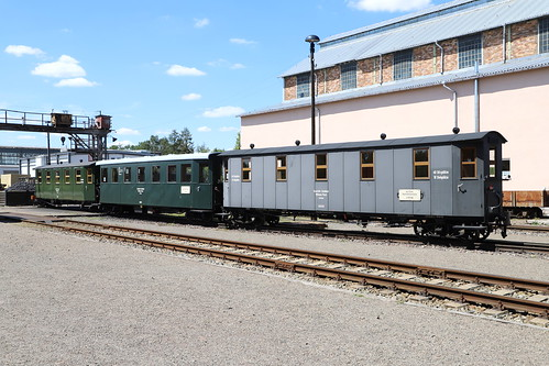 Mansfelder Eisenbahn Wagen 0056, 0075, 0052, Klostermansfeld