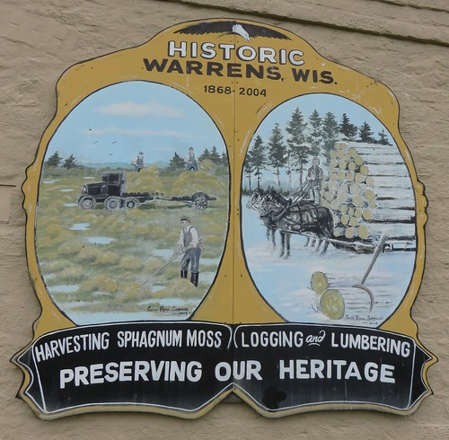 Historic Warrens Sign (Warrens, Wisconsin)