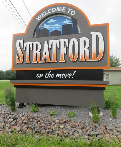 Welcome to Stratford Sign (Stratford, Wisconsin)
