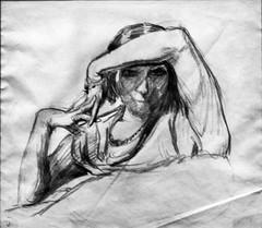Untitled [Marguerite de Sousa Lopes Portrait] (1920) - Adriano de Sousa Lopes (1879-1944)