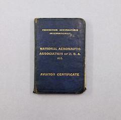090303 UNK 008 Certificate Aviator Certificate National Aeronautic Association of U.S.A. Inc. Federation Aeronautique Internationale Certificate No. 8252 Lela May Heffner with photo Date August 31 1932