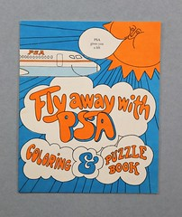 073003 HAM 013 Childrens coloring book Fly Away with PSA Coloring and puzzle book Blue white and orange