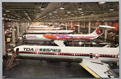 202027004 Photograph PSA Image of DC-9 planes in factory Color