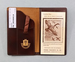 89.77.B Leather bound stationary set Pioneer Parachute Co.
