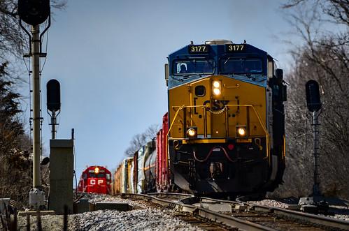 Ballast train peeking