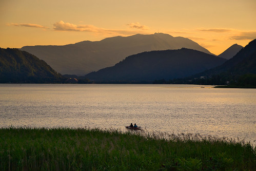 Evening mood at the Ossiach lake