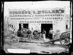 Burgess and Moller's blacksmithing, wheelwrighting, coachbuilding and farriering establishment, Hill End