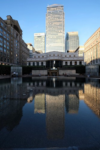Evening Reflections in Cabot Square