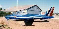 PFouga CM.170 Magister  Patrouille de France  Aix en Provence 080689