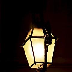 Lisbon Street Lamps at night