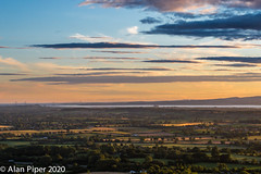 Last light across Severn Vale
