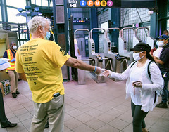 """MTA Officials Join """"Mask Force"""" Distributing Masks Across Subway and Bus System"""