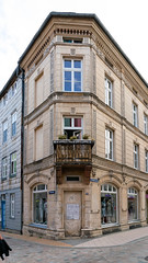 Old authentic German building in the old city of Schwerin