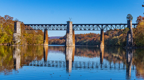 Railroad trestle of the Norfolk Southern Railway