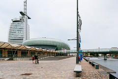 Mein Outlet & Shopping-Center modern architecture complex in Bremerhaven, Germany