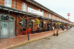 Authentic German fish market in sea city of Bremerhaven