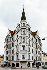 Beautiful historic German building in port city of Bremerhaven