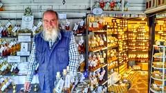 Deryl at his shop.