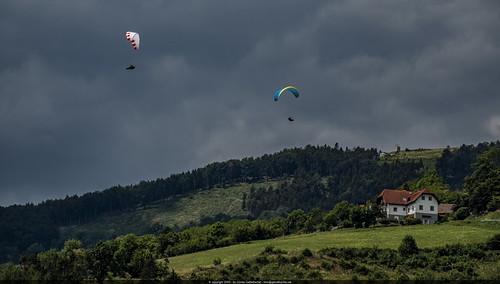 Paragliding at Lake Stubenberg