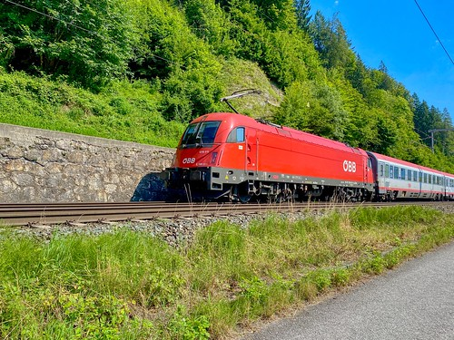 ÖBB train near Kufstein in Tyrol, Austria