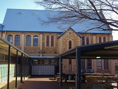 Adelaide. Highgate. A side view of the Lutheran Chapel in Concordia Lutheran College.