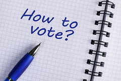 Notebook with text How to Vote?